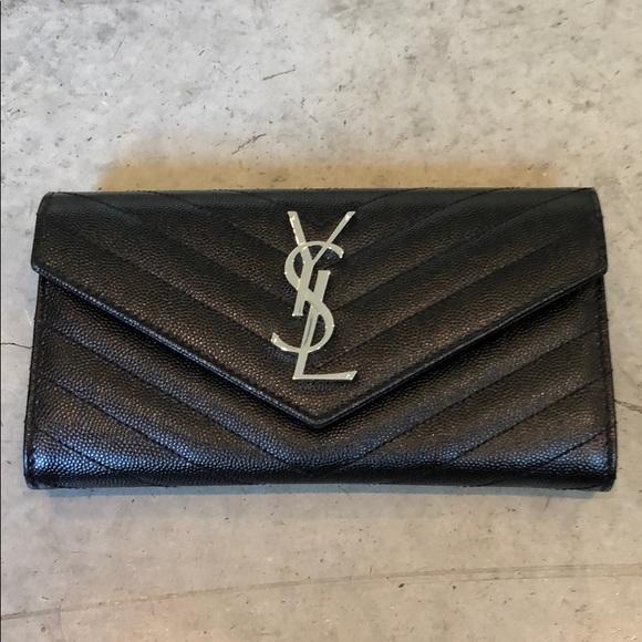 f1c447dae4 YSL Saint Laurent Monogram Large Flap Wallet